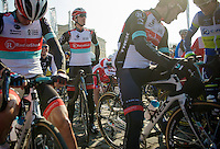 111th Paris-Roubaix 2013..Fabian Cancellara (CHE) at the start in Compiègnes.