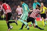 Neymar da Silva Santos Junior (c) of FC Barcelona fights for the ball with Raul Garcia of Athletic Club during their Copa del Rey Round of 16 first leg match between Athletic Club and FC Barcelona at San Mames Stadium on 05 January 2017 in Bilbao, Spain. Photo by Victor Fraile / Power Sport Images