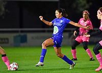 Jolet Lommen (9 Gent) pictured during a female soccer game between  AA Gent Ladies and Sporting Charleroi Feminin on the fifth matchday of the 2020 - 2021 season of Belgian Scooore Womens Super League , friday 16 th of October 2020  in Oostakker , Belgium . PHOTO SPORTPIX.BE   SPP   DAVID CATRY