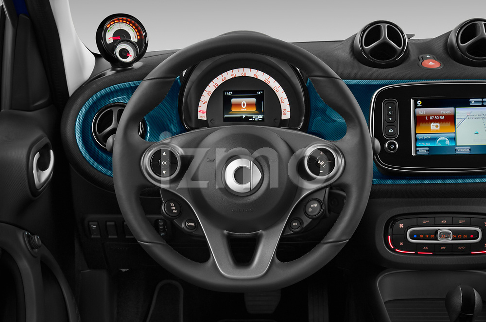 Car pictures of steering wheel view of a 2020 Smart EQ-forfour Comfort-Plus 5 Door Hatchback Steering Wheel
