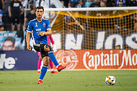 SAN JOSE, CA - SEPTEMBER 4: Oswaldo Alanis #4 of the San Jose Earthquakes passes the ball during a game between Colorado Rapids and San Jose Earthquakes at PayPal Park on September 4, 2021 in San Jose, California.