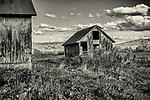 Old farm buildings at a farm in Ashfield, MA