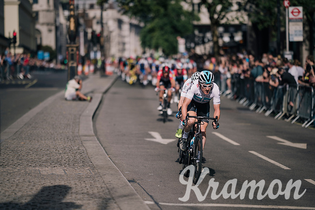 Geraint Thomas (GBR/SKY)<br /> <br /> Stage 8: London to London (77km)<br /> 15th Ovo Energy Tour of Britain 2018