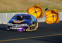 Jul. 29, 2011; Sonoma, CA, USA; NHRA pro stock driver Vincent Nobile during qualifying for the Fram Autolite Nationals at Infineon Raceway. Mandatory Credit: Mark J. Rebilas-