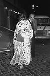 GINA LOLLOBRIGIDA ALL'USCITA DELLA TAVERNA FLAVIA ROMA 1978