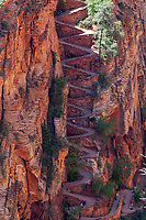 Walter's Wiggles are part of the West Rim Trail atZion National Park, Utah
