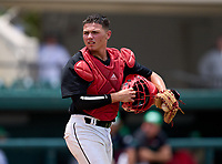 Westland Hialeah Wildcats catcher Ray Sobrino (21) during the 42nd Annual FACA All-Star Baseball Classic on June 5, 2021 at Joker Marchant Stadium in Lakeland, Florida.  (Mike Janes/Four Seam Images)
