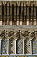 Intricate exterior of the Medina of Fes, Fes, Morocco.