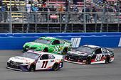#11: Denny Hamlin, Joe Gibbs Racing, Toyota Camry FedEx Office, #18: Kyle Busch, Joe Gibbs Racing, Toyota Camry Interstate Batteries and #00: Quin Houff, StarCom Racing, Chevrolet Camaro Victory Weekend