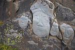 village de Qaqortoq fondé par Erik Le rougevillage de Qaqortoq fondé par Erik Le rouge..sculptures en granit réalisées par 24 artistes scandinaves