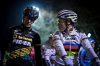 CX World Champion Sanne Cant (BEL/Iko-Beobank) & Ellen Van Loy (BEL/Telenet Fidea Lions) at the start<br /> <br /> women's race<br /> 44th Superprestige Diegem (BEL) 2018<br /> ©kramon