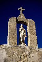 Malta.  Virgin Mary on Roadside Chapel near Mosta.