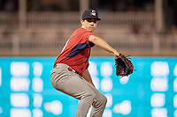 Springfield Cardinals pitcher Jacob Patterson (34) during a Texas League game against the Frisco RoughRiders on May 4, 2019 at Dr Pepper Ballpark in Frisco, Texas.  (Mike Augustin/Four Seam Images)