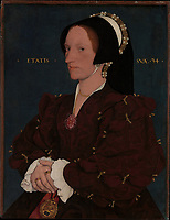 Holbein, Hans, the Younger 1497–1543.<br /> <br /> Lady Lee (Margaret Wyatt, born about 1509), Painting, ca. 1540–1543.<br /> <br /> Oil and gold on oak, 44.1 × 34 cm.<br /> Inv. Nr. 14.40.637<br /> New York, Metropolitan Museum of Art.
