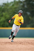 Pittsburgh Pirates John Lantigua (22) runs the bases during an Instructional League intrasquad black and gold game on October 3, 2017 at Pirate City in Bradenton, Florida.  (Mike Janes/Four Seam Images)