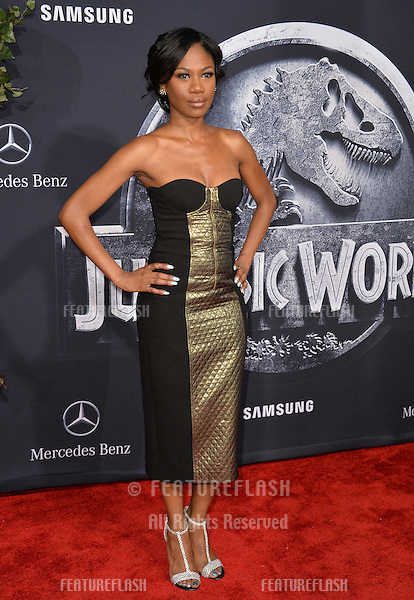 """Vanessa Chester at the world premiere of """"Jurassic World"""" at the Dolby Theatre, Hollywood.<br /> June 10, 2015  Los Angeles, CA<br /> Picture: Paul Smith / Featureflash"""