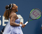 September  2, 2018:  Serena Williams (USA) defeated Kaia Kanepi (EST)  6-0, 4-6, 6-3, at the US Open being played at Billy Jean King Ntional Tennis Center in Flushing, Queens, New York. Karla Kinne/Tennisclix