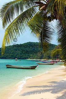 Thailand, Southern Thailand, Province Surat Thani, Ko Samui island: A west coast beach   Thailand, Suedthailand, Provinz Surat Thani, Insel Ko Samui: einsamer Strand an der Westkueste