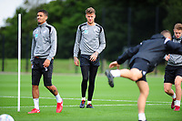 Joe Rodon (right) of Swansea City in action during the Swansea City Training Session at The Fairwood Training Ground, Wales, UK. Tuesday 11th September 2018
