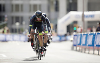 Hincapie Cycling Team (USA) at work<br /> <br /> Elite Men's Team Time Trial<br /> UCI Road World Championships Richmond 2015 / USA