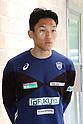 Soccer: Goalkeeper Kim Seung-gyu of Vissel Kobe speaks with press in Kobe
