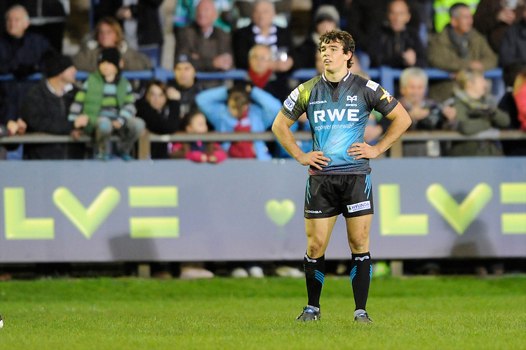Tom Habberfield of Ospreys during the LV= Cup second round match between Ospreys and Northampton Saints at Riverside Hardware Brewery Field, Bridgend (Photo by Rob Munro)