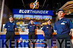 Cian Morgan, Daniel Fok-Seang, Dante De Guzmin and Gosia Rusak, at the opening of Blue Thunder food outlet in Corrib oil service station in Tralee.