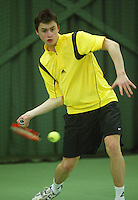10-3-06, Netherlands, tennis, Rotterdam, National indoor junior tennis championchips, Karaliolios