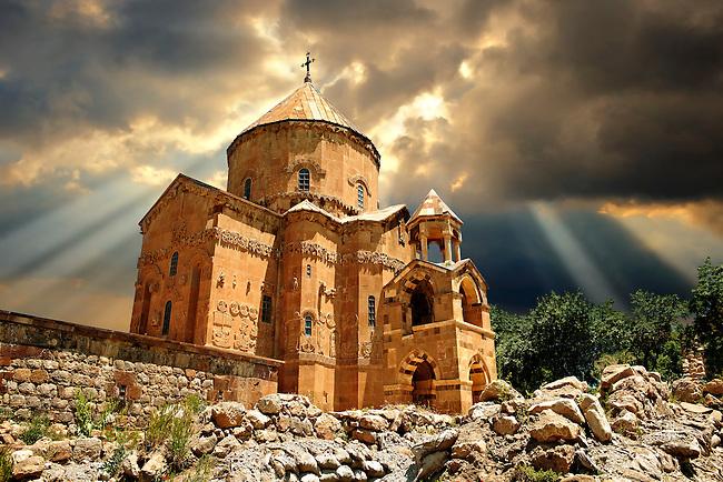 10th century Armenian Orthodox Cathedral of the Holy Cross on Akdamar Island, Lake Van Turkey 56