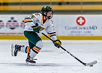 1 December 2018: University of Vermont Catamount Defender Maude Poulin-Labelle, a Freshman from Sherbrooke, Québec, in third period play against the University of Maine Black Bears at Gutterson Fieldhouse in Burlington, Vermont. The Lady Cats defeated the Lady Bears 3-2 in the second game of their 2-game Hockey East series. Mandatory Credit: Ed Wolfstein Photo *** RAW (NEF) Image File Available ***