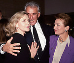 Lauren Bacall, Herbert Ross and Lee Radziwill attend a Gala in New Ypork City on April 1, 1989