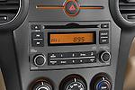 Stereo audio system close up detail view of a 2008 Kia Rondo EX V6
