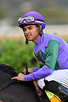 HOT SPRINGS, AR - MARCH 17:Jockey Luis Saez winningg race. Rebel Stakes at Oaklawn Park on March 17, 2018 in Hot Springs, Arkansas. (Photo by Ted McClenning/Eclipse Sportswire/Getty Images)