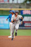 Lakeland Flying Tigers Kody Clemens (8) running the bases during a Florida State League game against the Clearwater Threshers on May 14, 2019 at Spectrum Field in Clearwater, Florida.  Clearwater defeated Lakeland 6-3.  (Mike Janes/Four Seam Images)