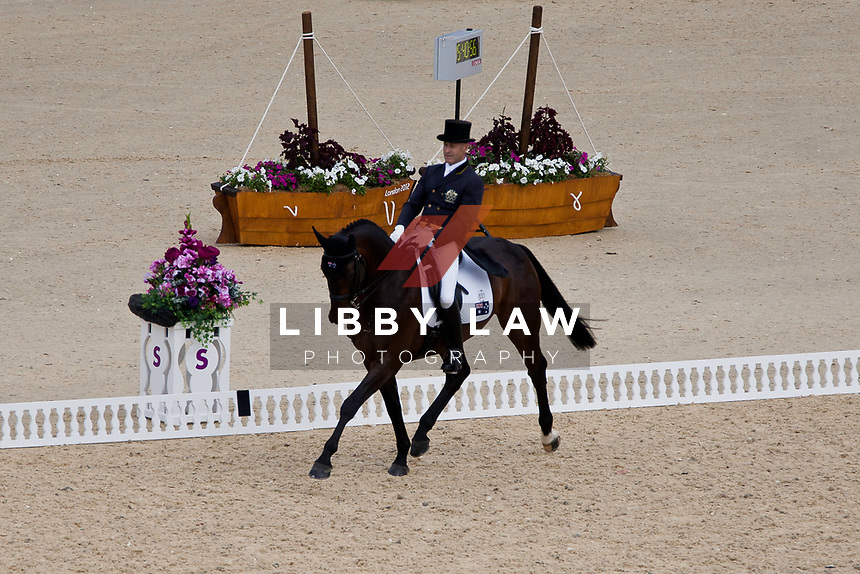 AUS-Andrew Hoy (RUTHERGLEN) 2012 LONDON OLYMPICS (Saturday 28 July 2012) EVENTING DRESSAGE: INTERIM-4TH (41.70)