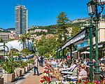 Fuerstentum Monaco, an der Côte d'Azur, Stadtteil Monte Carlo: Brasserie le Café de Paris | Principality of Monaco, on the French Riviera (Côte d'Azur), district Monte Carlo: Brasserie le Café de Paris