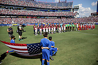 Nashville, TN - Saturday July 08, 2017: USMNT and Panama starting eleven's during a 2017 Gold Cup match between the men's national teams of the United States (USA) and Panama (PAN) at Nissan Stadium.