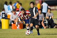 2010 US Soccer Development Academy Winter Showcase U17/18 Chivas USA vs Virginia Rush AJ Auxerre at Reach 11 Soccer Complex in Phoenix, Arizona in December of  2010.