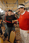Jamie Gold gets a handshake from Humberto Brenes