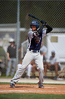 Chase Davis during the WWBA World Championship at the Roger Dean Complex on October 19, 2018 in Jupiter, Florida.  Chase Davis is an outfielder from Elk Grove, California who attends Franklin High School and is committed to Arizona.  (Mike Janes/Four Seam Images)