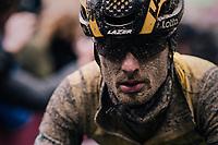 Enrico Battaglin (ITA/LottoNL-Jumbo) rolling in at the finish<br /> <br /> 12th Strade Bianche 2018<br /> Siena > Siena: 184km (ITALY)