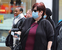 Members of the public wear face coverings while out shopping in London.Prime Minister Boris Johnson has announced a new three tier lockdown system because of the the increasing levels of coronavirus infections in the UK. London October 14th 2020<br /> <br /> Photo by Keith Mayhew