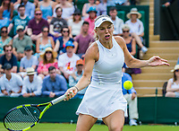 London, England, 10th July 2017. Tennis, Wimbledon. Caroline  Wozniacki (DEN). Photo Henk Koster, Tennis Images.