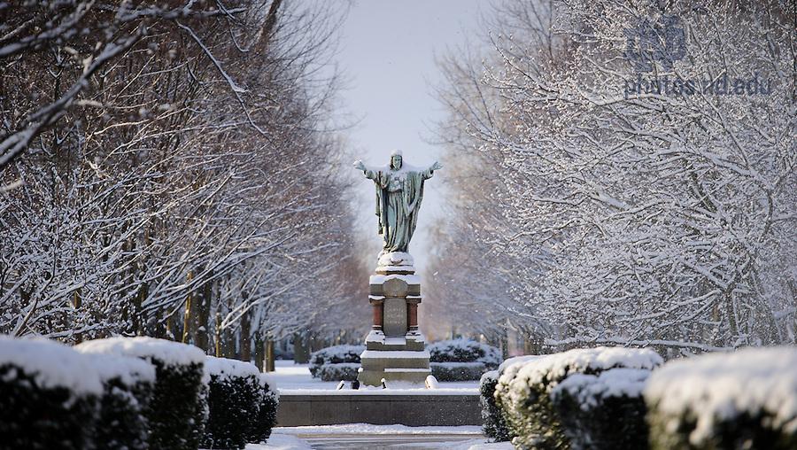 Mar. 21, 2013; Main Quad after a snowfall..Photo by Matt Cashore/University of Notre Dame