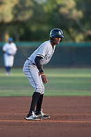 AZL White Sox left fielder Cabera Weaver (12) leads off second base during an Arizona League game against the AZL Dodgers at Camelback Ranch on July 7, 2018 in Glendale, Arizona. The AZL Dodgers defeated the AZL White Sox by a score of 10-5. (Zachary Lucy/Four Seam Images)