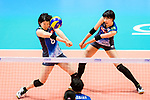 Yuki Ishii (R) and Mami Uchiseto of Japan (L) in action during the match between China and Japan on May 30, 2018 in Hong Kong, Hong Kong. (Photo by Power Sport Images/Getty Images)