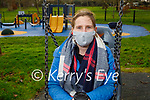 Louise O'Sullivan enjoying the swings in the playground in the Tralee town park on Saturday.