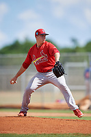 GCL Cardinals pitcher Ryan Helsley delivers a pitch during a game against the GCL Mets on August 6, 2018 at Roger Dean Chevrolet Stadium in Jupiter, Florida.  GCL Cardinals defeated GCL Mets 6-3.  (Mike Janes/Four Seam Images)