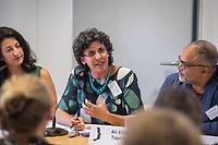 """Pressekonferenz der Menschenrechtsorganisation """"Terre des Femmes"""" am Donnerstag den 23. August 2018 in Berlin, anlaesslich ihrer Petition """"Den Kopf frei haben!"""", die sich fuer ein Verbot des sogenannten """"Kinderkopftuch"""" fuer Maedchen unter 18 Jahren einsetzt. Fuer Terre des Femmes ist das Kinderkopftuch der Missbrauch von Kindern fuer eine Religion und eine Kinderrechtsverletzung.<br /> Ziel der Unterschriftensammlung fuer die Petition sind 100.000 Unterschriften.<br /> Im Bild: <br /> 23.8.2018, Berlin<br /> Copyright: Christian-Ditsch.de<br /> [Inhaltsveraendernde Manipulation des Fotos nur nach ausdruecklicher Genehmigung des Fotografen. Vereinbarungen ueber Abtretung von Persoenlichkeitsrechten/Model Release der abgebildeten Person/Personen liegen nicht vor. NO MODEL RELEASE! Nur fuer Redaktionelle Zwecke. Don't publish without copyright Christian-Ditsch.de, Veroeffentlichung nur mit Fotografennennung, sowie gegen Honorar, MwSt. und Beleg. Konto: I N G - D i B a, IBAN DE58500105175400192269, BIC INGDDEFFXXX, Kontakt: post@christian-ditsch.de<br /> Bei der Bearbeitung der Dateiinformationen darf die Urheberkennzeichnung in den EXIF- und  IPTC-Daten nicht entfernt werden, diese sind in digitalen Medien nach §95c UrhG rechtlich geschuetzt. Der Urhebervermerk wird gemaess §13 UrhG verlangt.]"""