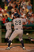 April 23 2010:  Mitch Abeita (28) of the Tampa Yankees during a game vs. the Daytona Beach Cubs at Jackie Robinson Ballpark in Daytona Beach, Florida. Tampa, the Florida State League High-A affiliate of the New York Yankees, won the game against Daytona, affiliate of the Chicago Cubs, by the score of 11-3  Photo By Scott Jontes/Four Seam Images